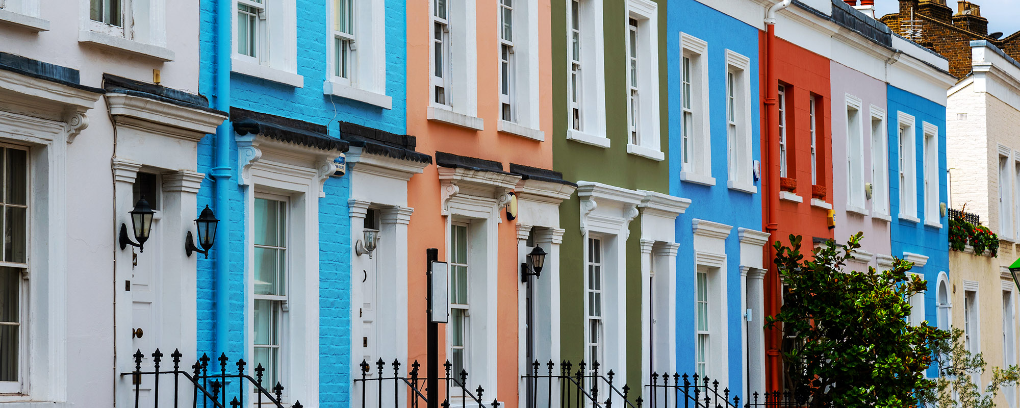 Coloured town houses